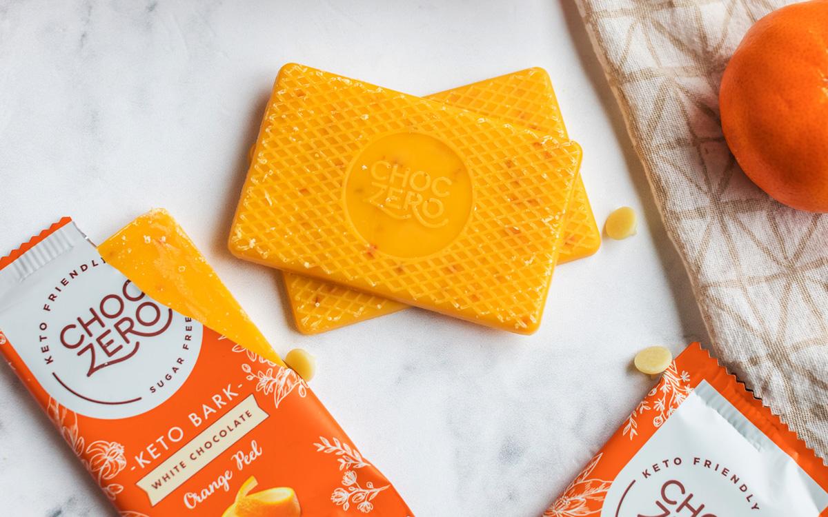 choczero orange chocolate keto bark