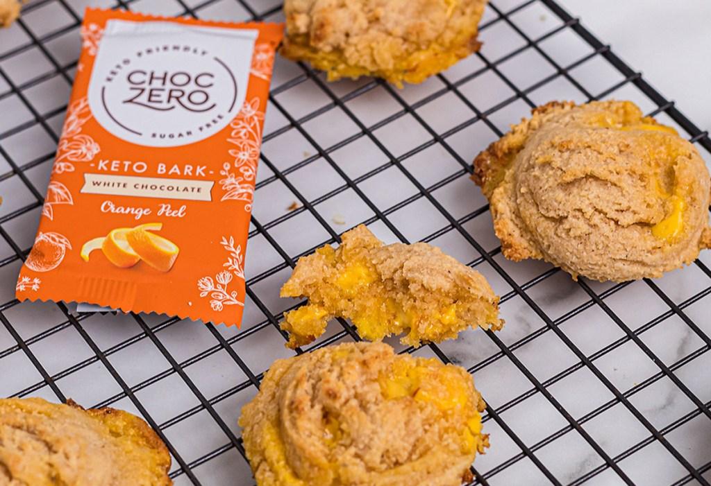 Keto White Chocolate Orange Cookies