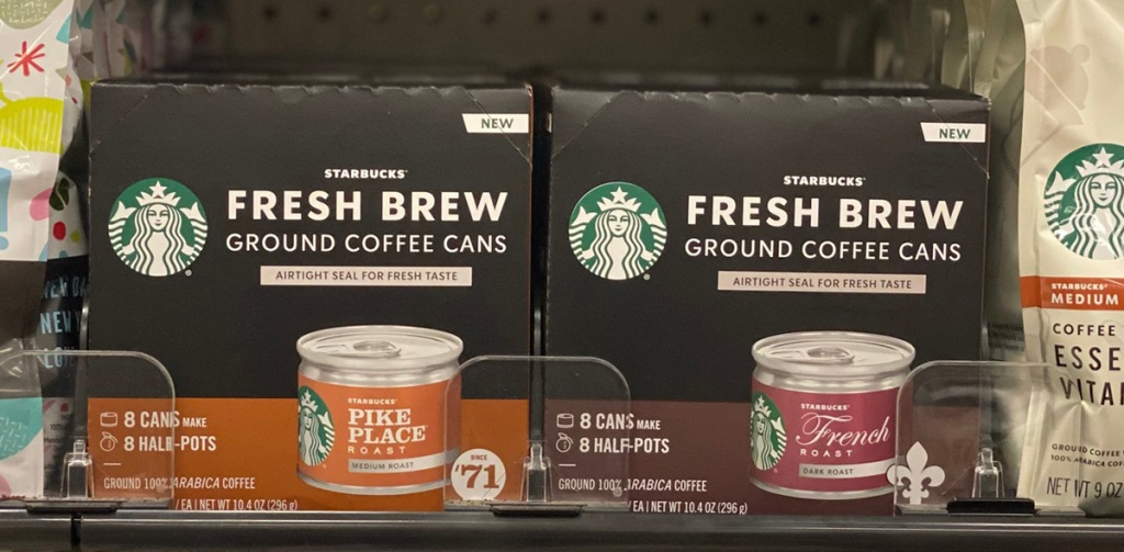 starbucks coffee cans