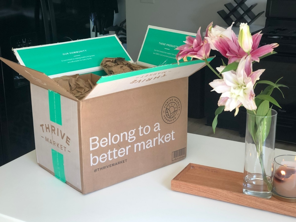 Thrive Market box on counter