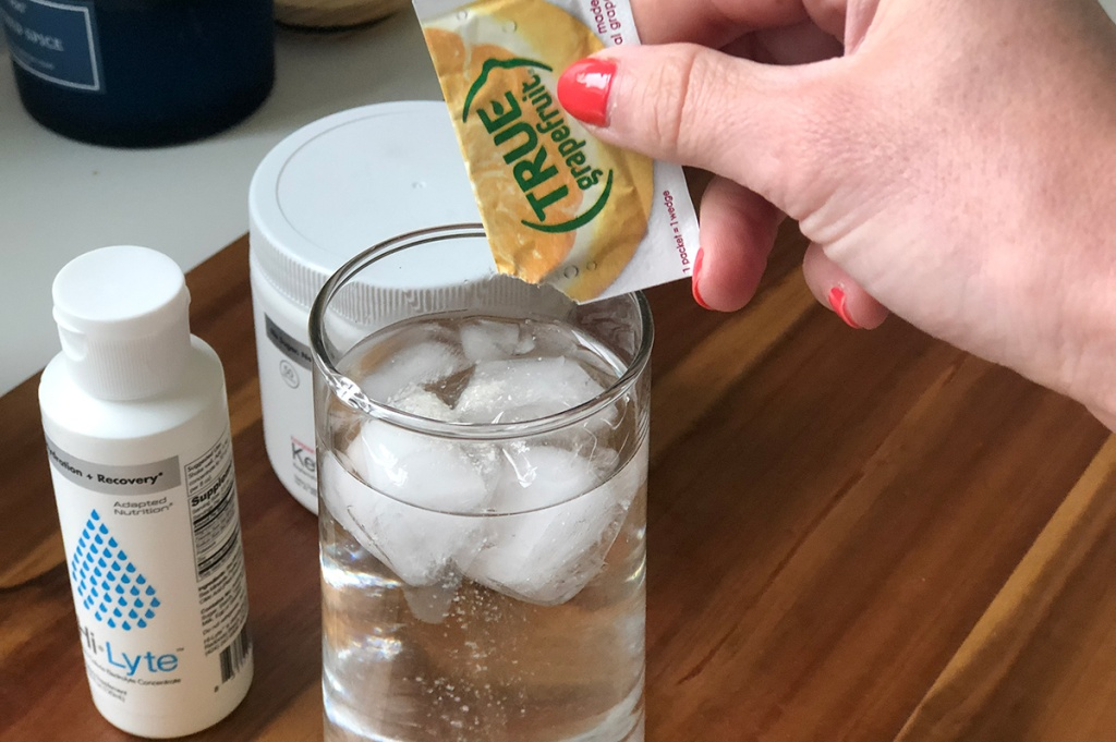 adding grapefruit powder to adapted nutrition hi-lyte concentrate
