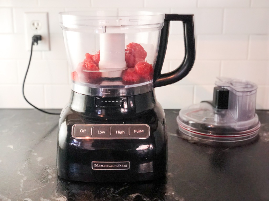 canned tomatoes in a blender