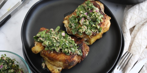 Cilantro Lime Chicken Thighs with Chimichurri Sauce – Must Try keto Dinner Idea!