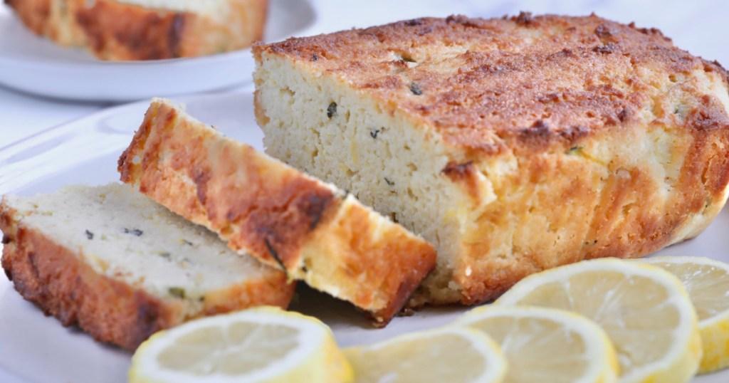 lemon zucchini bread sliced