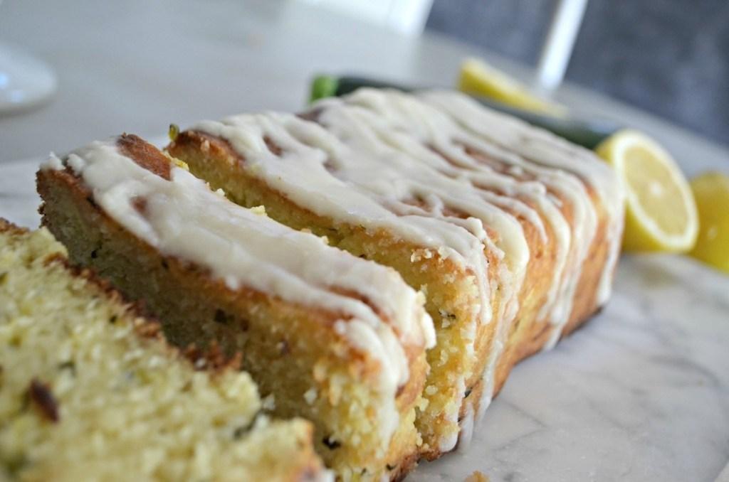 slices of zucchini bread with glaze