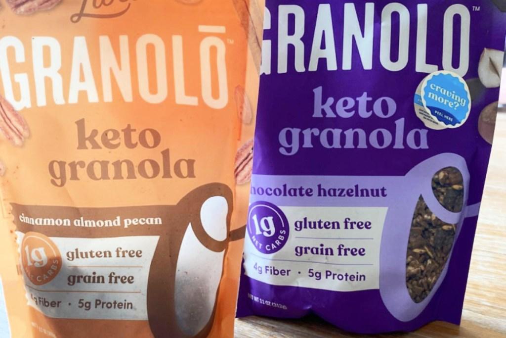 two bags of livlo granola