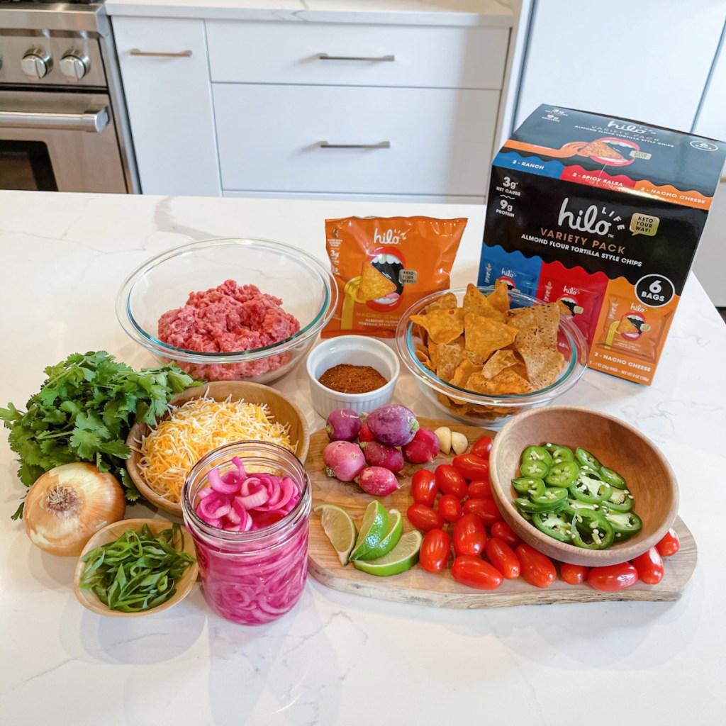 keto sheet pan nacho ingredients