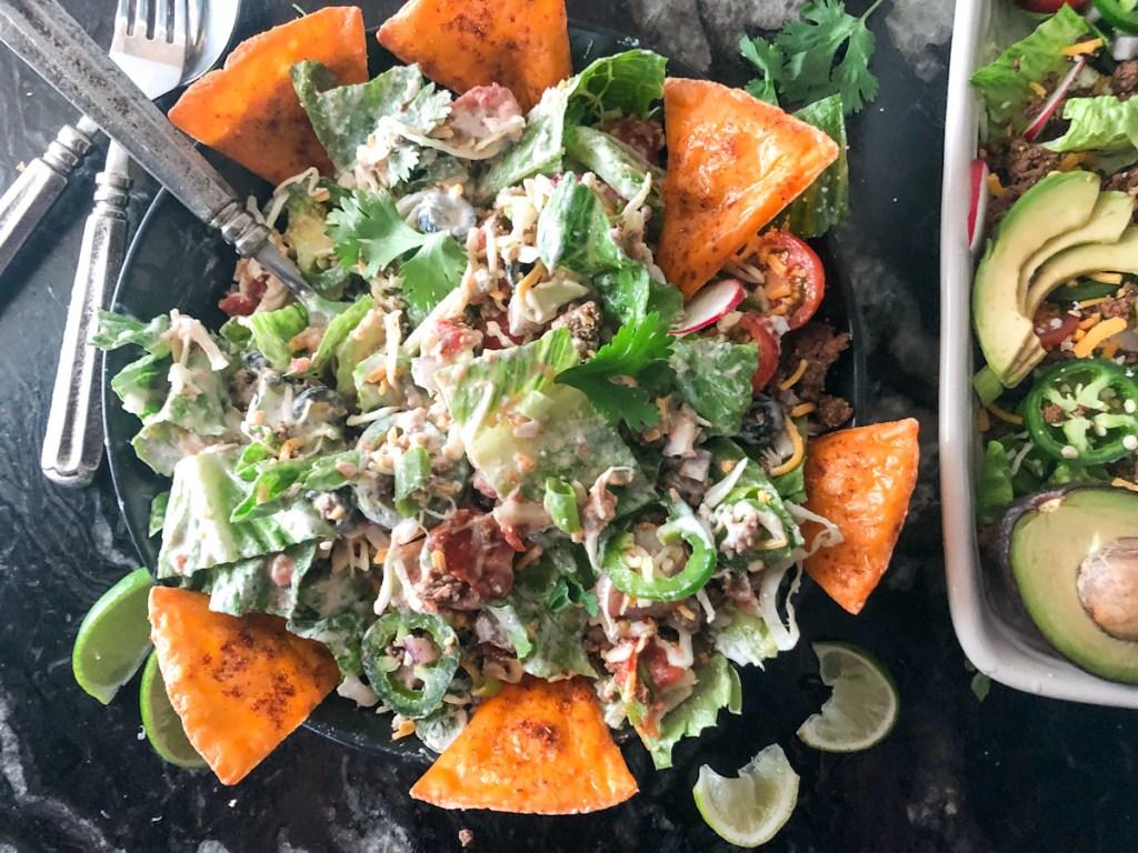 tossed keto salad