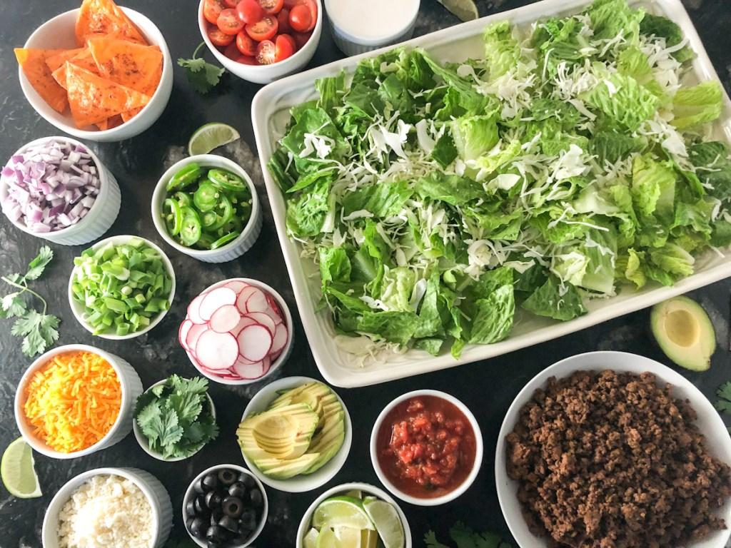 keto taco salad bar ingredients