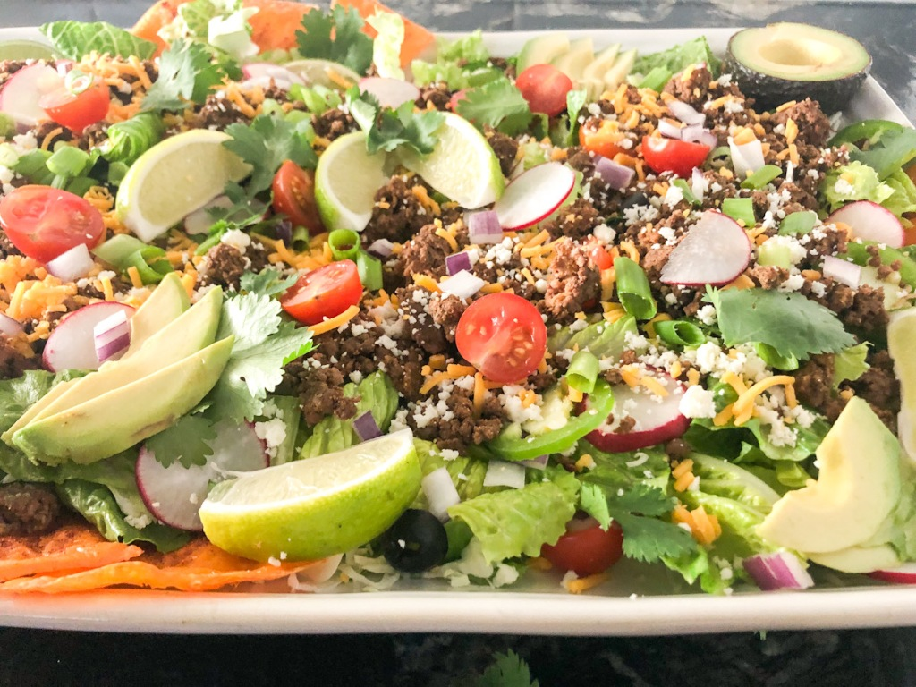 platter keto taco salad