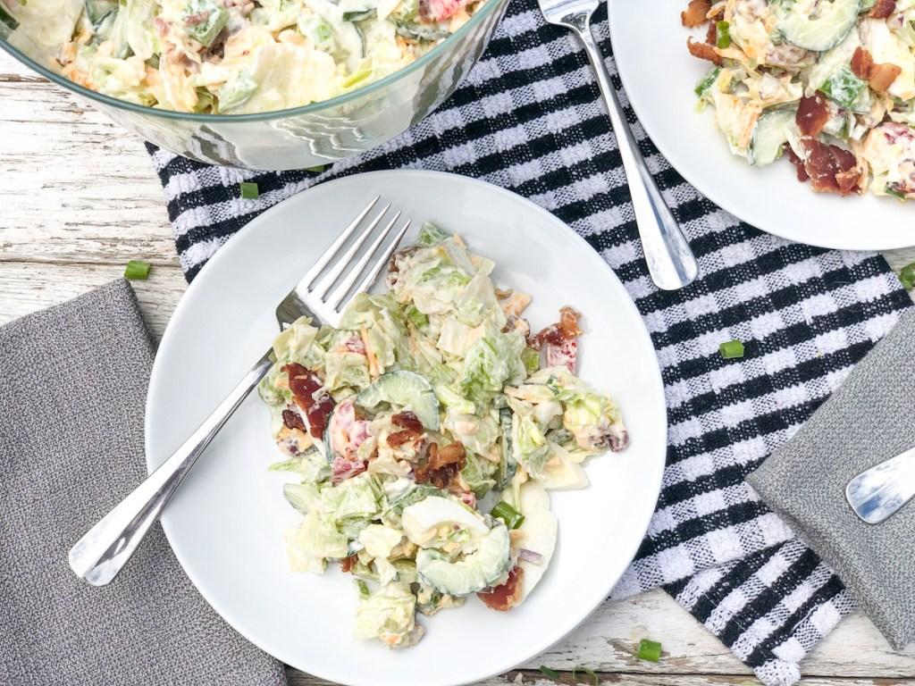 s24 hour salad on a plate