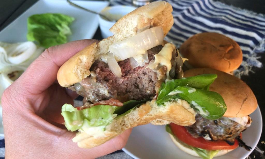 bite taken out of gordon ramsay keto copycat burger