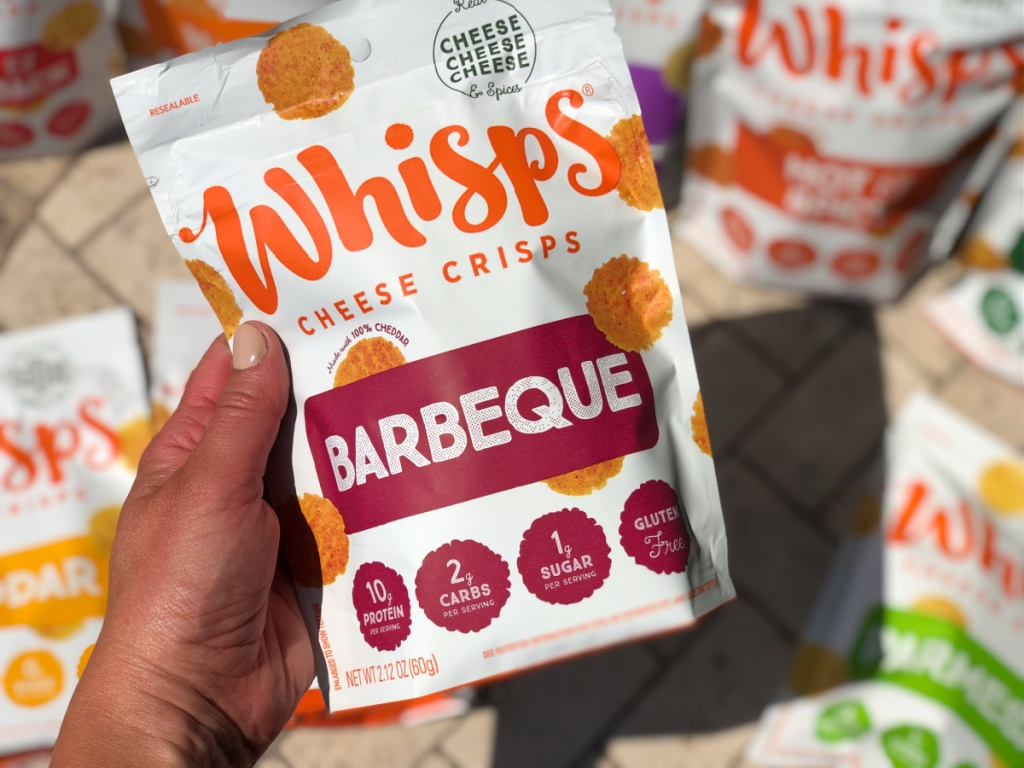 whisps cheese crisps barbeque