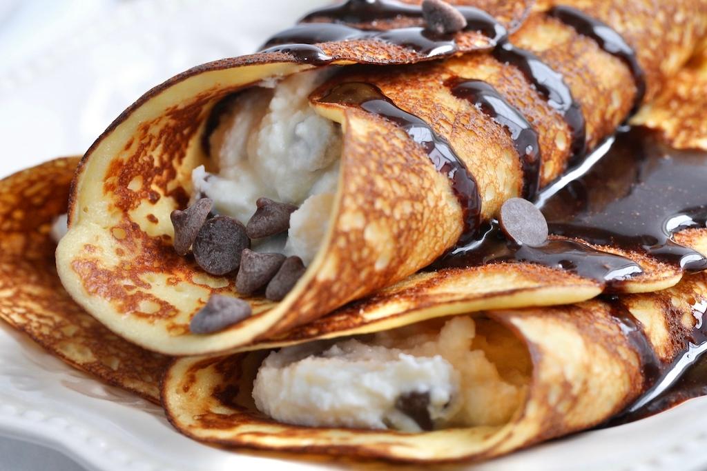 Keto Cannoli Stuffed Crepes