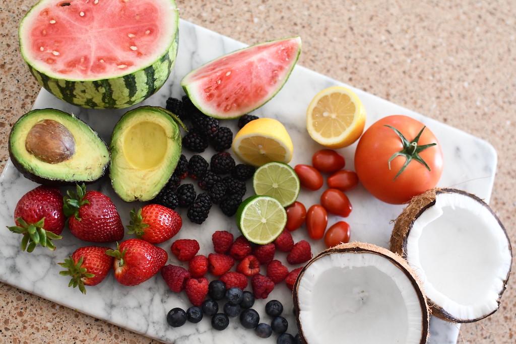 keto fruit displayed on cutting board