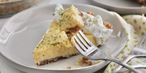 Keto Key Lime Pie with Salted Pecan Crust