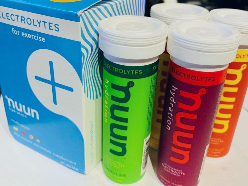 4 bottle of Nuun Electrolytes