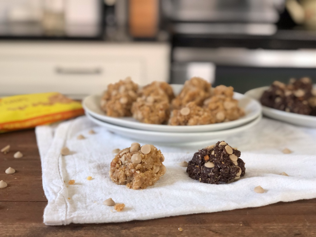 keto no-bake peanut butter cookies
