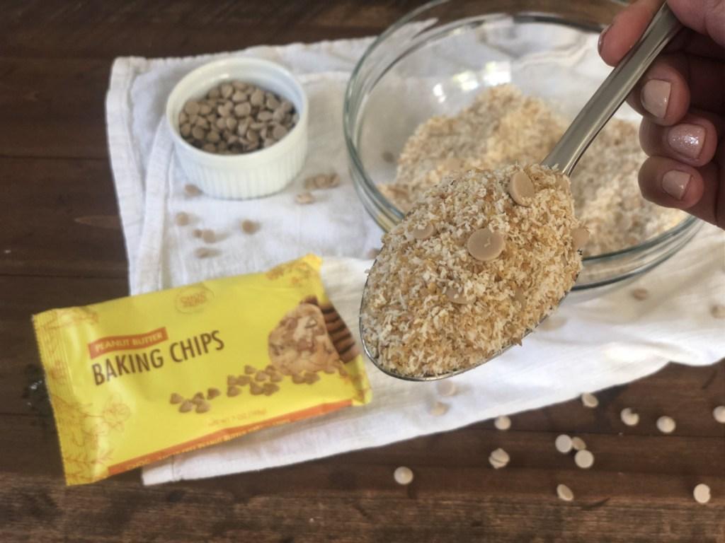keto no-bake peanut butter cookies dry ingredients