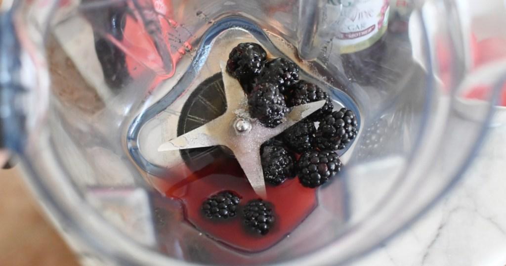 blackberry dressing in the blender