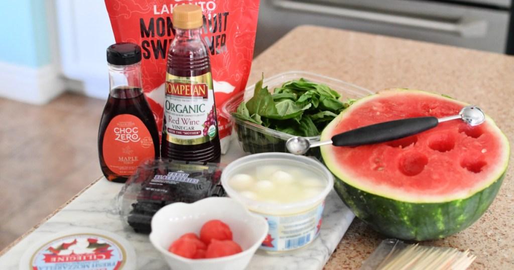 ingredients for keto watermelon caprese