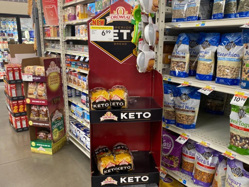bread display at store