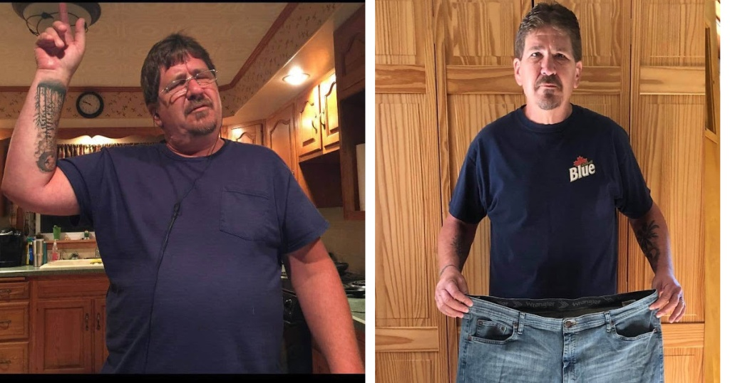 Keto success story side by side