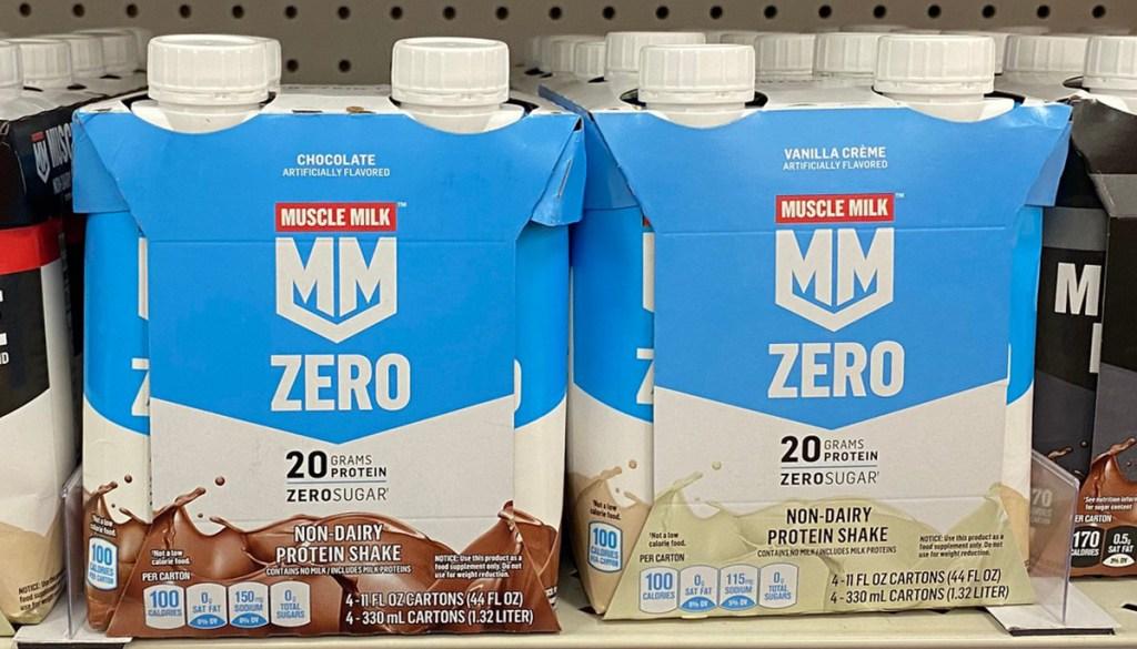 muscle milk zero sugar shakes