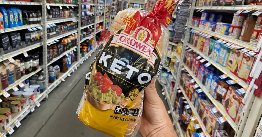 Oroweat keto bread at the store