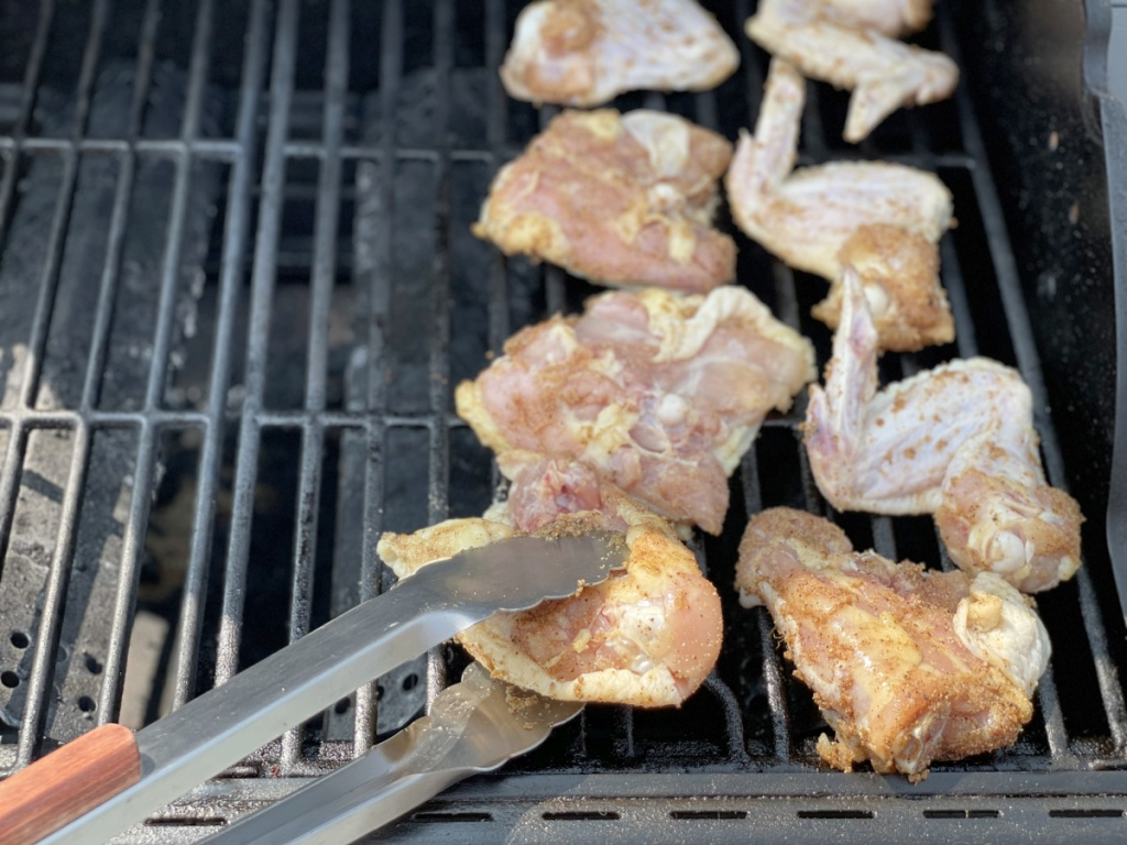 keto bbq chicken on the grill