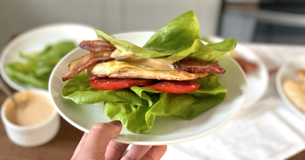 Copycat Chick-fil-A grilled chicken sandwich on a plate