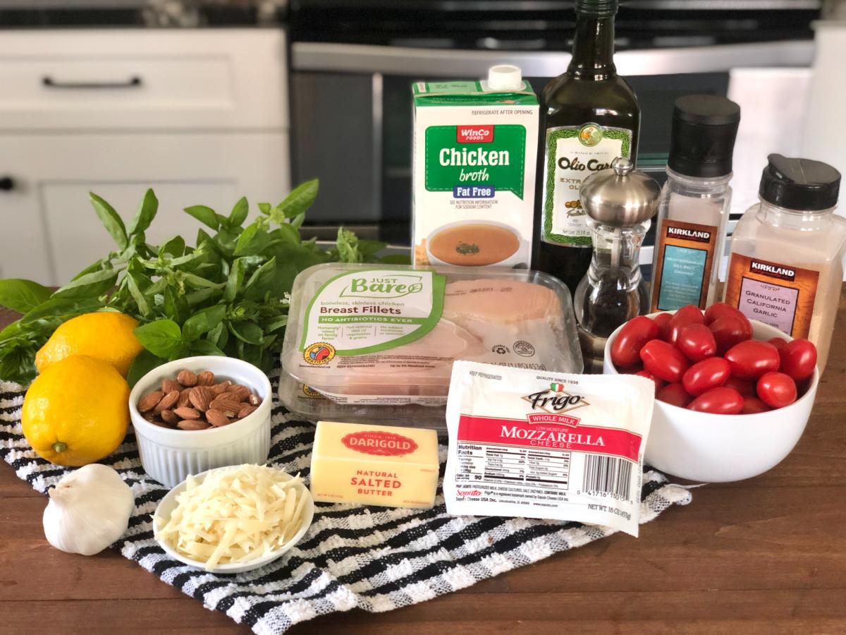Grilled Chicken Margherita Olive Garden ingredients
