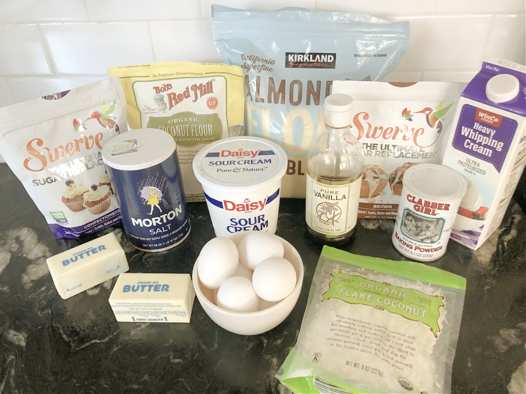 cake ingredients on a counter
