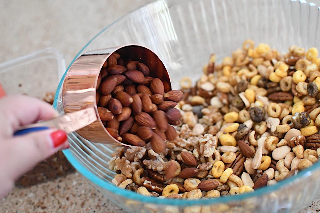 putting almonds in keto trail mix