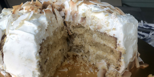 This Decadent Four-Layer Keto Coconut Cake is Amazing!