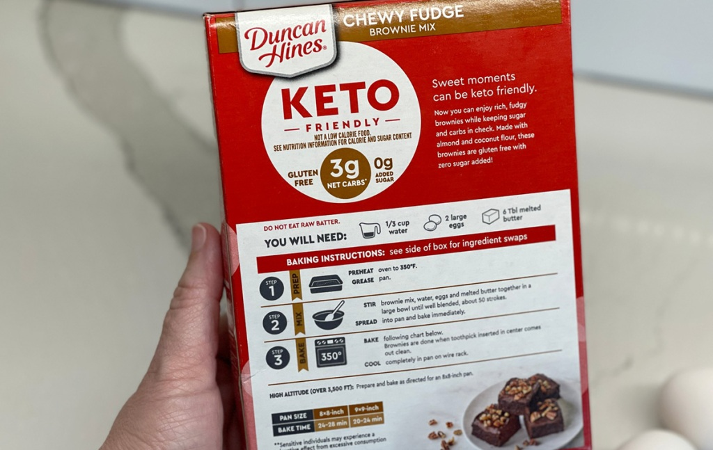 duncan hines keto brownie box