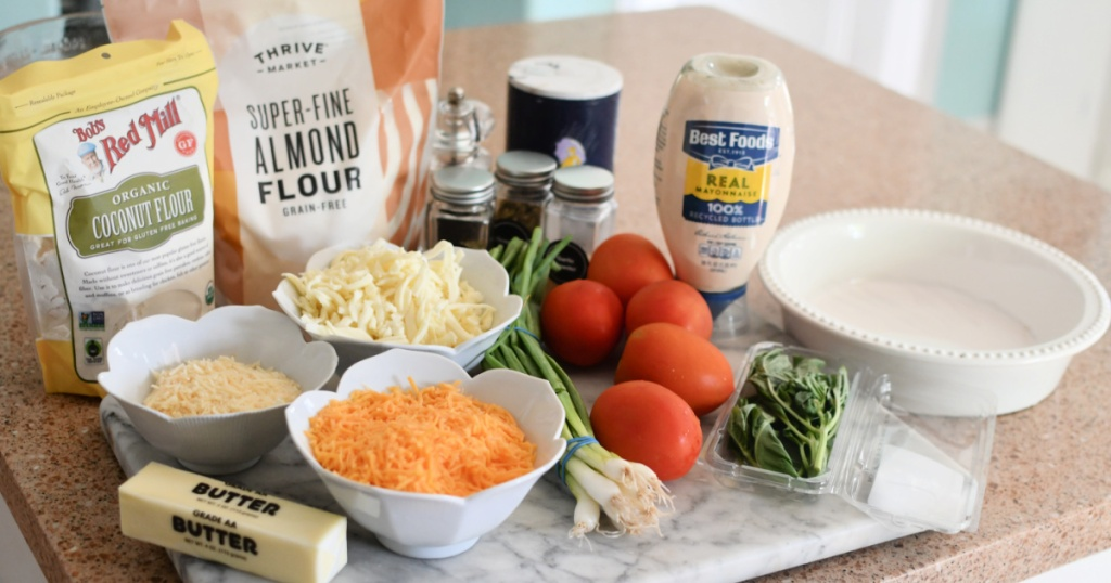ingredients for keto tomato pie