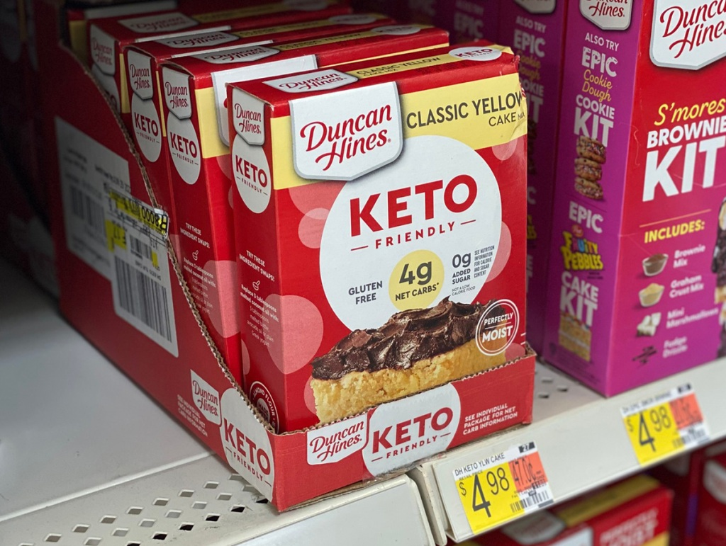 keto cake mix on walmart shelf