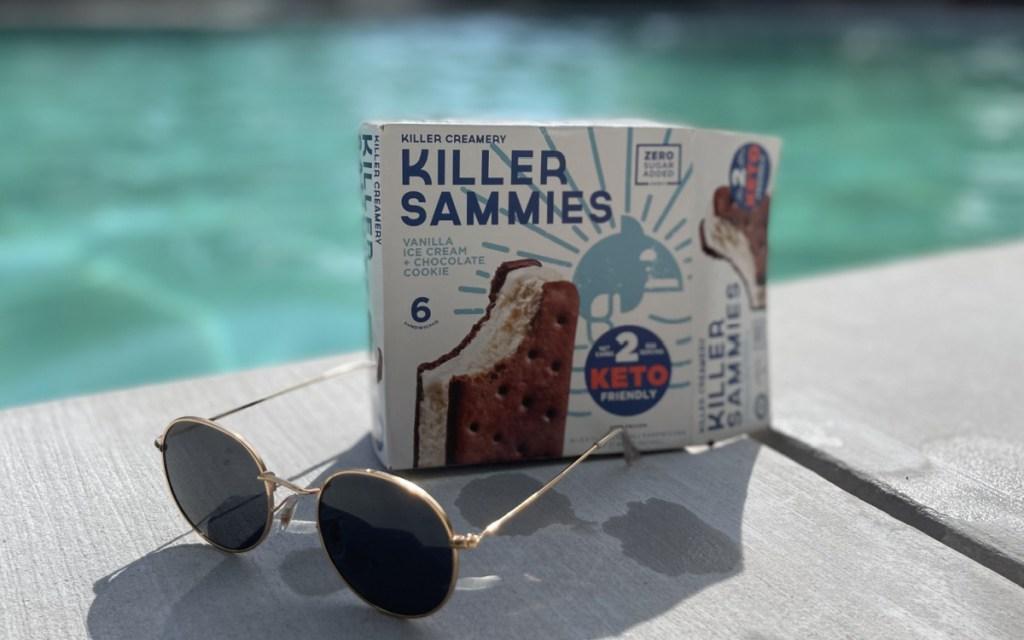 killer sammies in box by pool