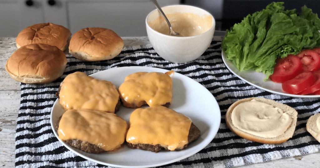 shake shack keto burger dupes on plate