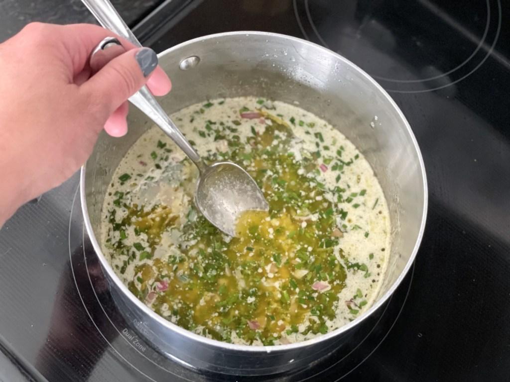 stirring cowboy butter