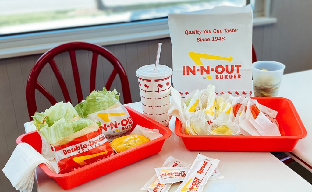 in-n-out keto food on table