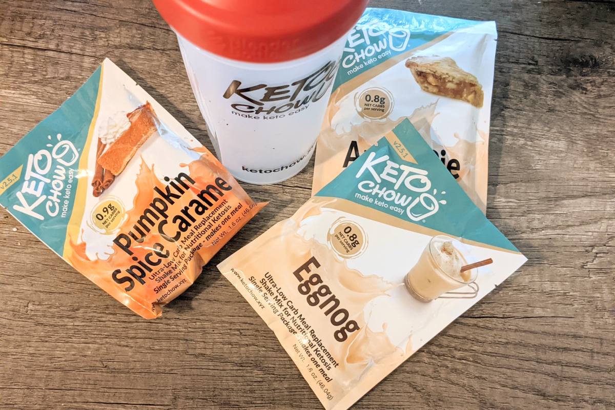 Keto Chow keto meal replacement protein shake fall flavors