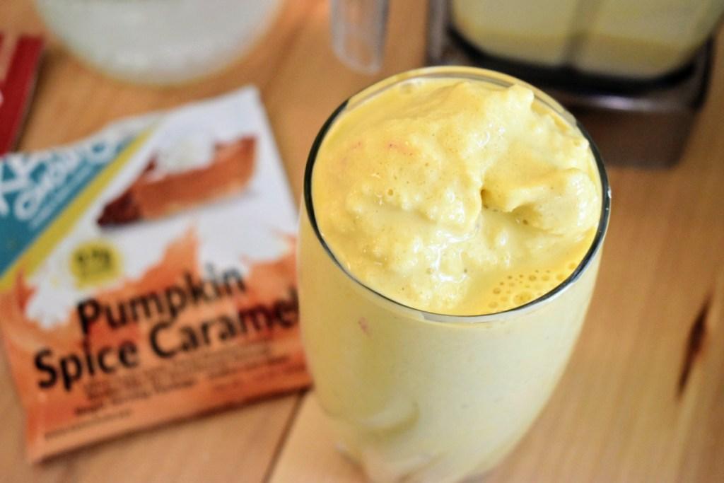 Pumpkin Spice Caramel Keto Chow shake