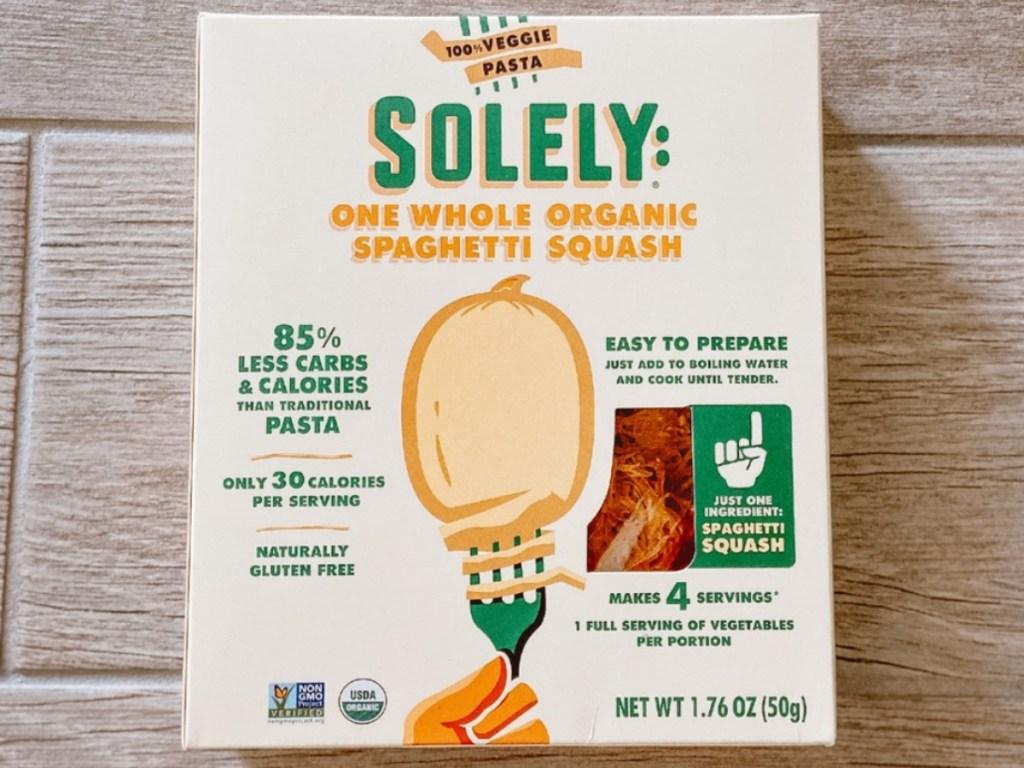 box of roasted spaghetti squash