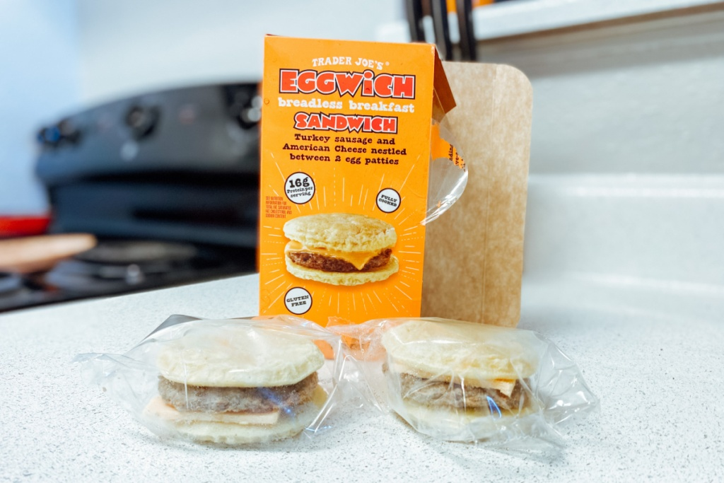 trader joe's eggwich in the packaging