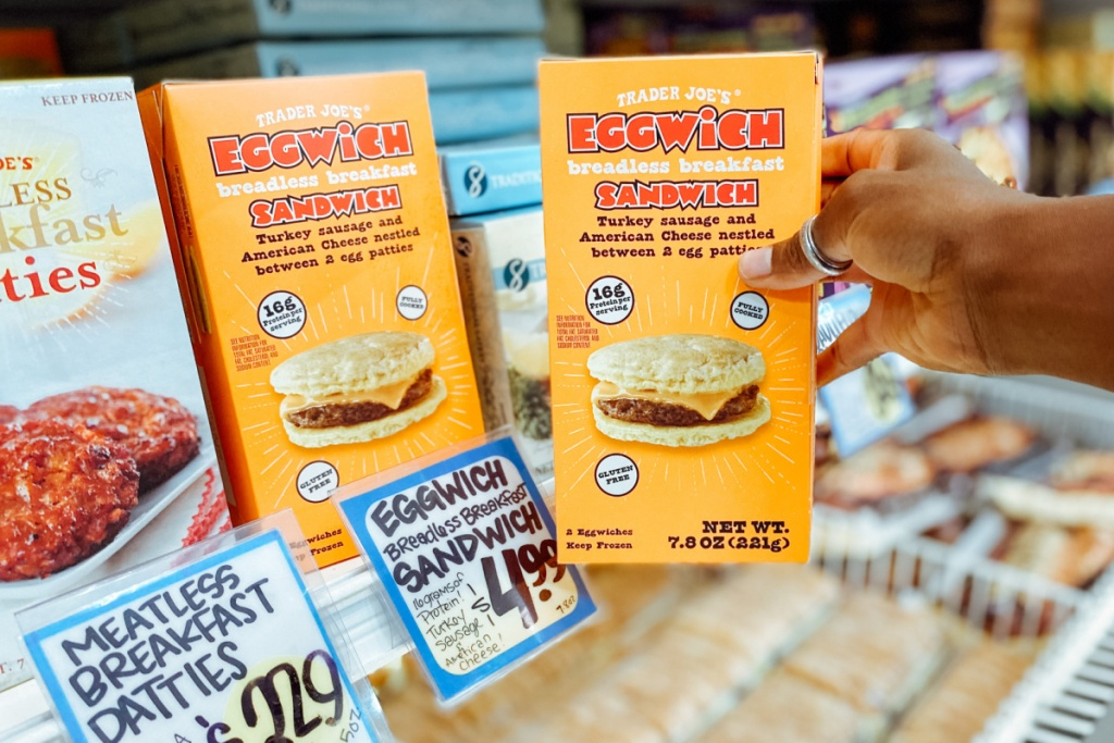 eggwich trader joe's breadless breakfast sandwich