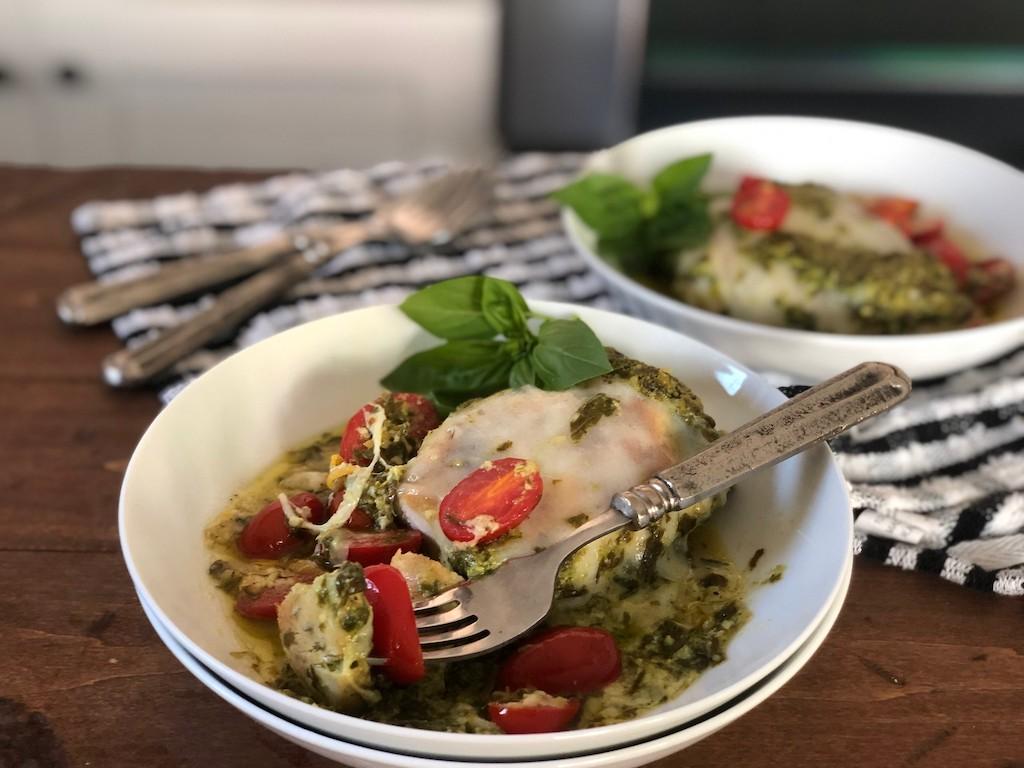 Grilled Chicken Margherita Olive Garden Keto Copycat